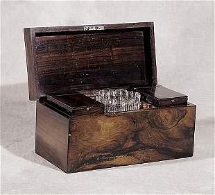 021: Regency rosewood tea caddy 19th century