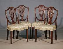 159 George III carved mahogany side chairs set of fou