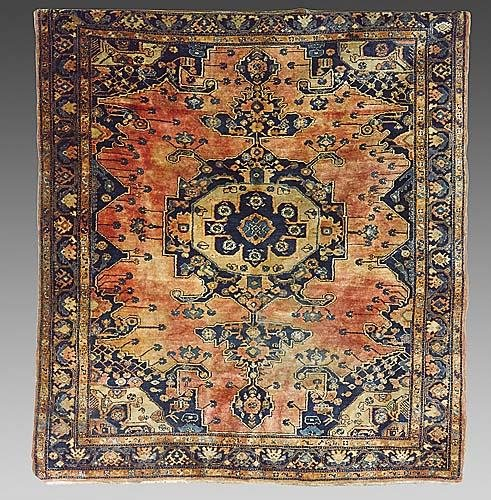 324: Antique Persian Heriz carpet circa 1900