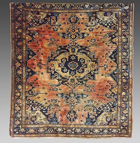 324: Antique Persian Heriz carpet circa 1900