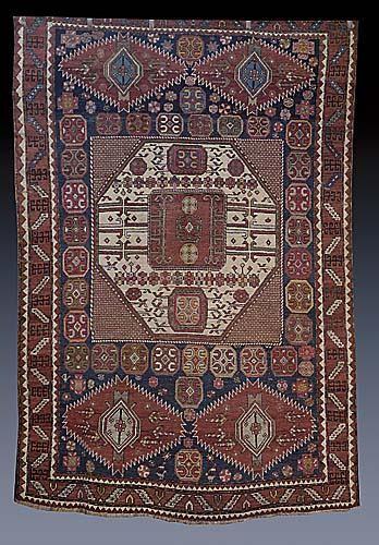 325: Persian geometric carpet 19th century