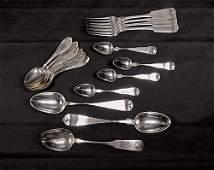 456: American coin silver flatware Massachusetts, circa