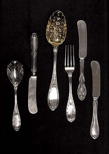 458: American coin silver flatware, by Albert Coles New