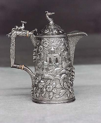471: S. Kirk & Son silver covered pitcher circa 1860