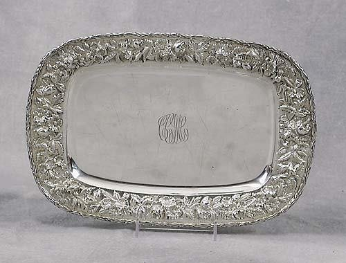 472: American sterling tray, by S Kirk & Son Baltimore,