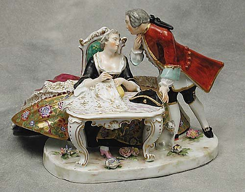 011: Continental porcelain figural group  dep