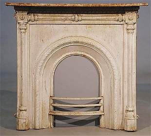 012: English Victorian style cast-iron fire s