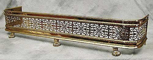 014: Brass fire fender  Date: late 19th/early