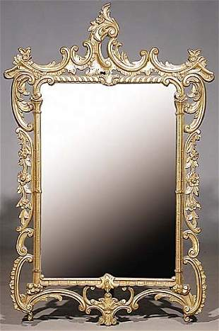 018: Chippendale style giltwood mirror decor