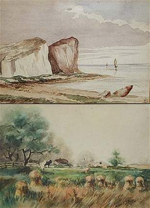 019: Two watercolors Stolz, Mable M. Date: A