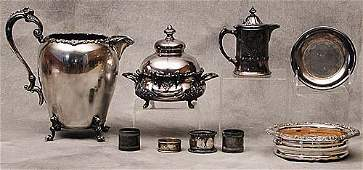 201: Collection of silverplate a beverage pi