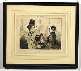 010: Daumier, Honoré French (1808-1879)