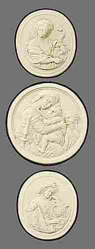 Collection antique plaster intaglios of cl