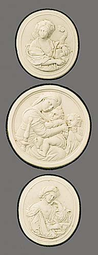 3: Collection antique plaster intaglios of cl
