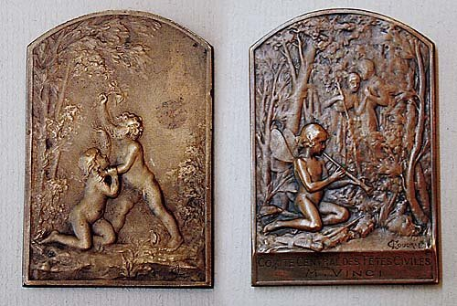 4: Collection six bronze medallions early 20t