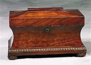 Regency mahogany tea caddy mid 19th centur