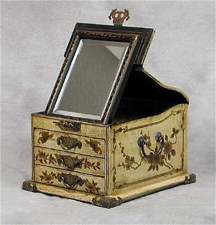 Chinese yellow and gold lacquered box a sl