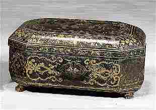 Regency chinoiserie box first half 19th ce