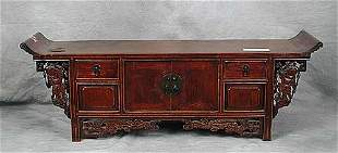 Chinese elm altar table early 20th centur