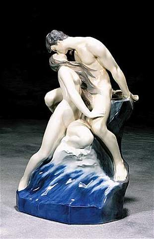 Royal Copenhagen porcelain 'Wave On Rock'