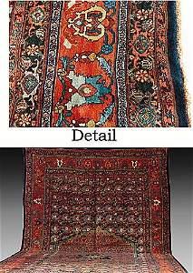 158: Antique Persian Bidjar carpet circa 1900