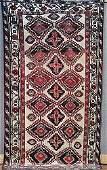 217: Semi-antique Persian Afshar carpet circa