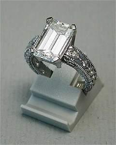 258: Platinum and diamond ring mounting set w