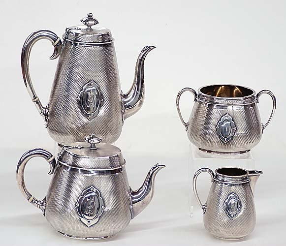418: Victorian sterling tea and coffee servic