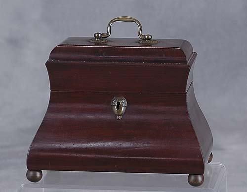 008: Victorian mahogany trinket box late 19th century