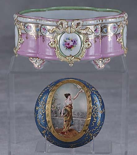 306: Two pieces porcelain early 20th century
