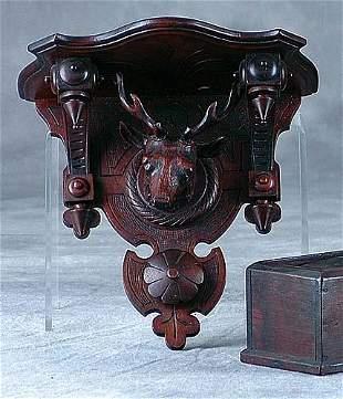 Victorian carved walnut bracket Date:circa 1880