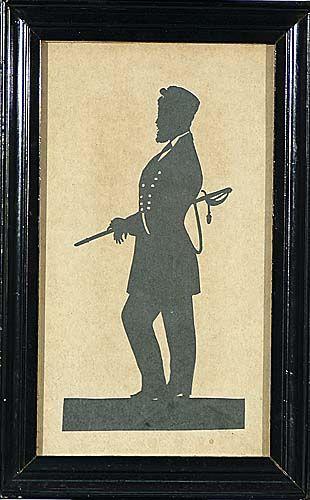 American silhouette Date:19th century