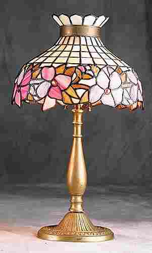 Leaded glass and gilt-bronze lamp Date:circa 1910