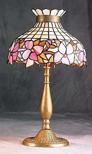 409: Leaded glass and gilt-bronze lamp Date:circa 1910