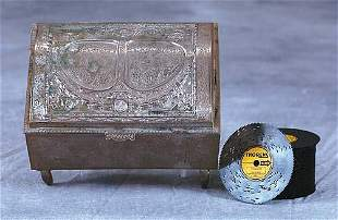 Thorens nickle metal disk music box Date:first hal