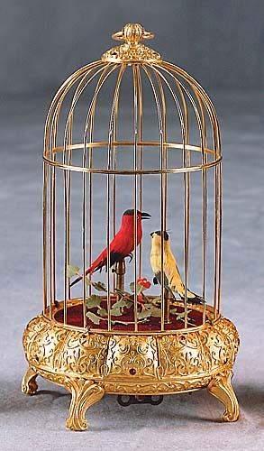 Automaton bird music box