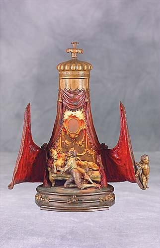 416: Austrian cold-painted bronze figural lamp Date:cir