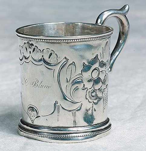 417: Southern coin silver cup, by John Mood Date:Charle