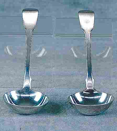 Pair George III sterling sauce ladles Date:London,