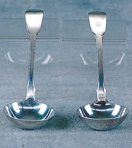 419: Pair George III sterling sauce ladles Date:London,