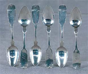Southern coin silver spoons, by HP Horton Date:Sav