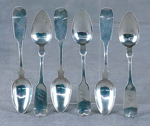 420: Southern coin silver spoons, by HP Horton Date:Sav