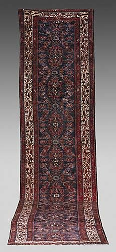 615: Antique Persian Senneh runner