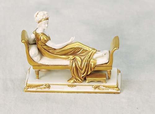 013: French gilt porcelain figure   circa 1900   entitl