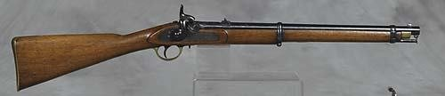 395: English 60 caliber percussion rifle by Barnett   c