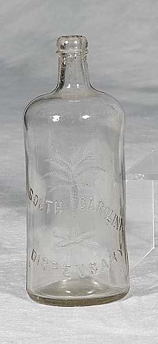 426: South Carolina Dispensary bottlecirca 18951qt size