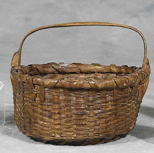 427: Southern split oak basket, probably South Carolina
