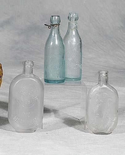 428: Four South Carolina bottlescirca 1890-1900two Char