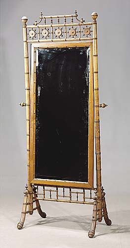 446: Aesthetic faux bamboo cheval mirror, by RJ Horner
