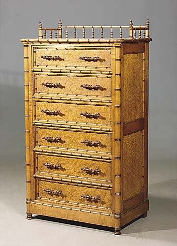 447: Aesthetic faux bamboo lockside chof drawers, possi